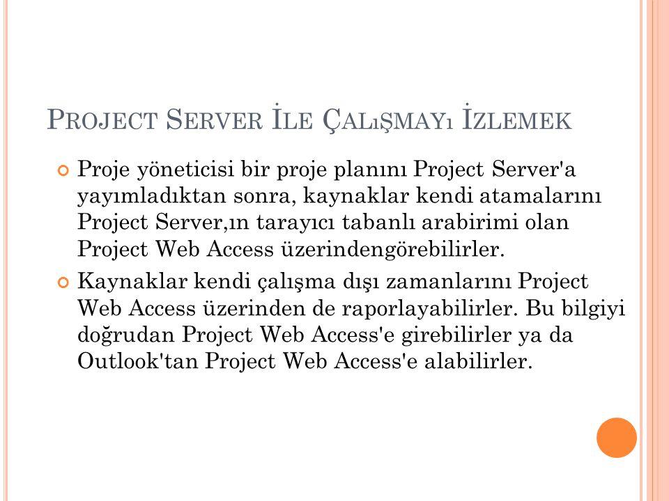 Project Server İle Çalışmayı İzlemek
