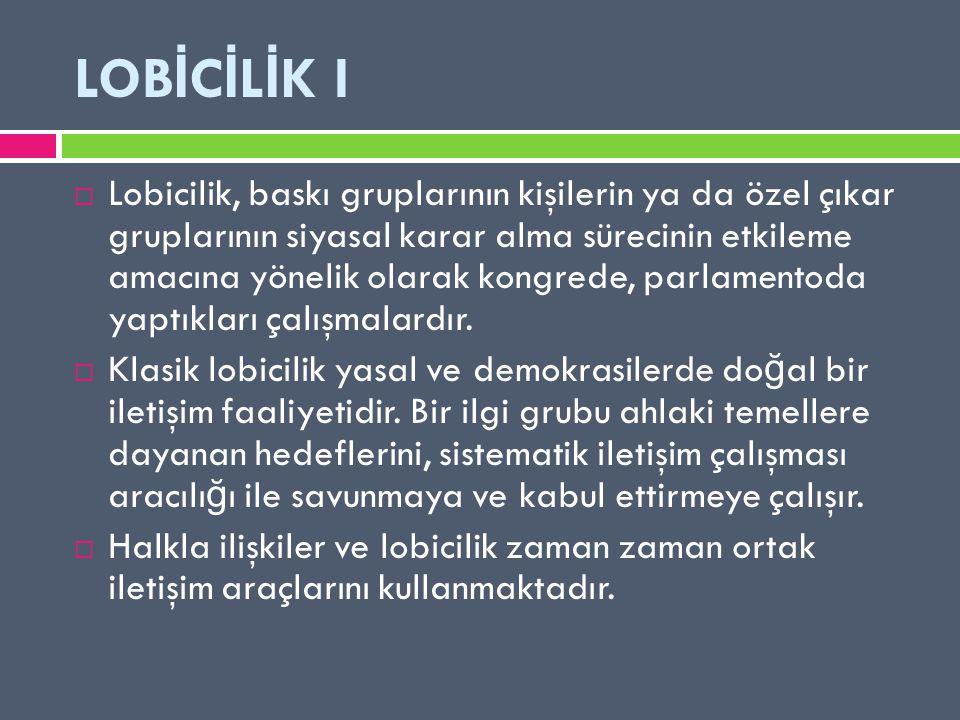 LOBİCİLİK I