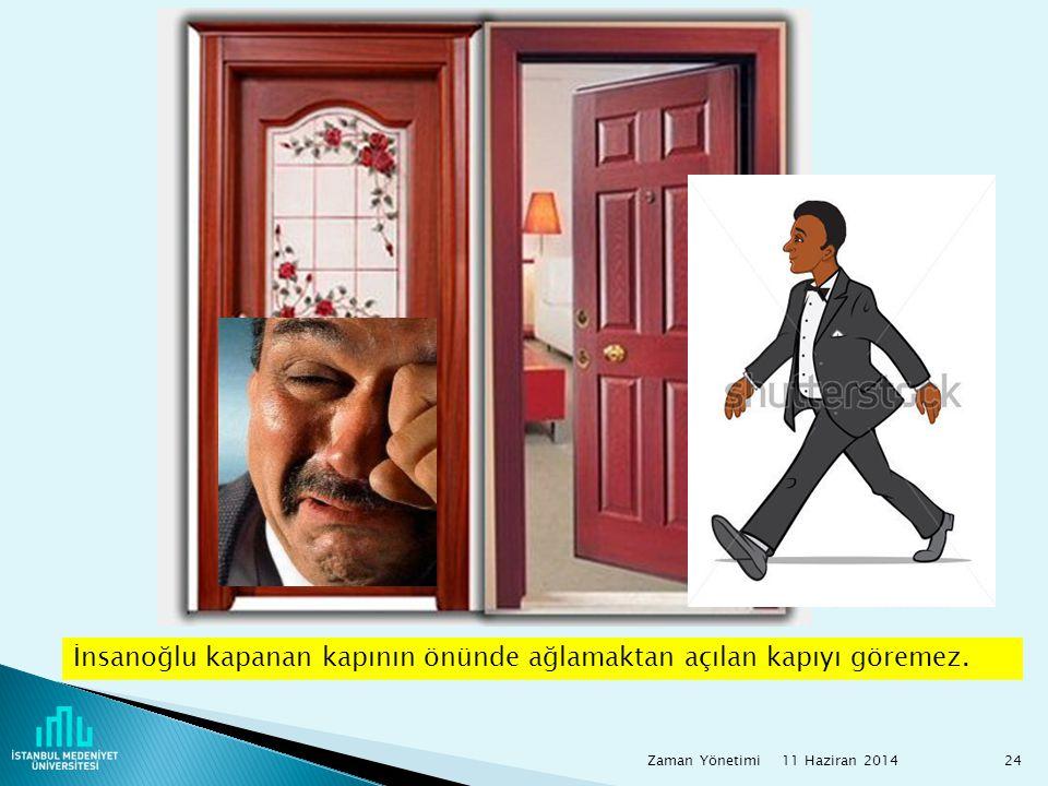 İnsanoğlu kapanan kapının önünde ağlamaktan açılan kapıyı göremez.