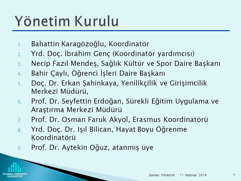 Yönetim Kurulu Bahattin Karagözoğlu, Koordinatör