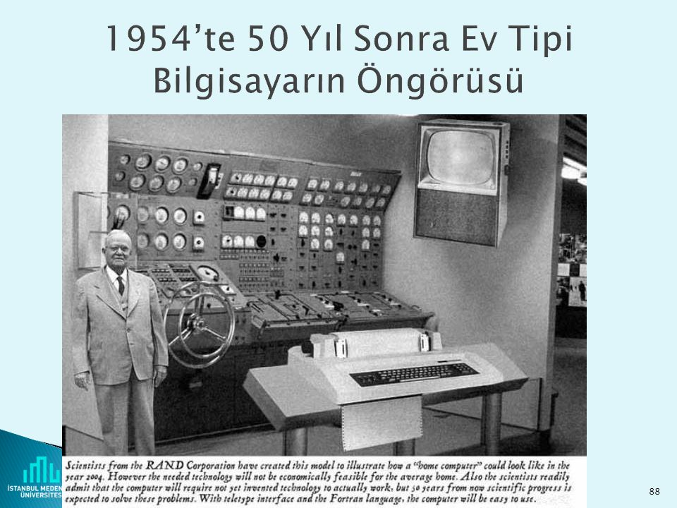 1954'te 50 Yıl Sonra Ev Tipi Bilgisayarın Öngörüsü