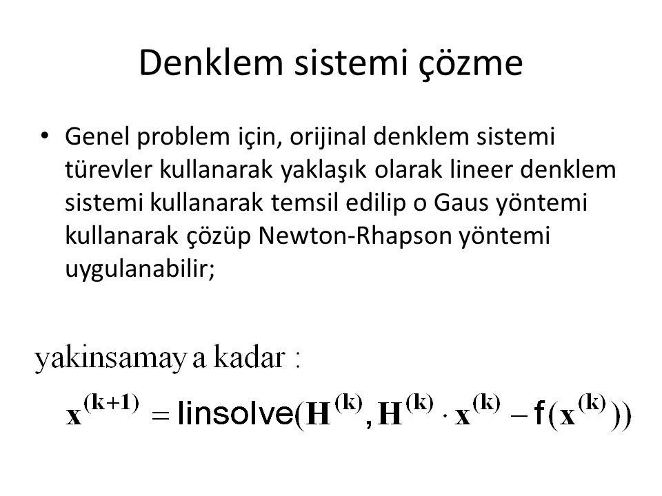 Denklem sistemi çözme