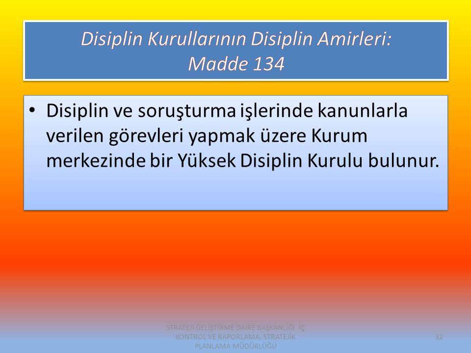 Disiplin Kurullarının Disiplin Amirleri: