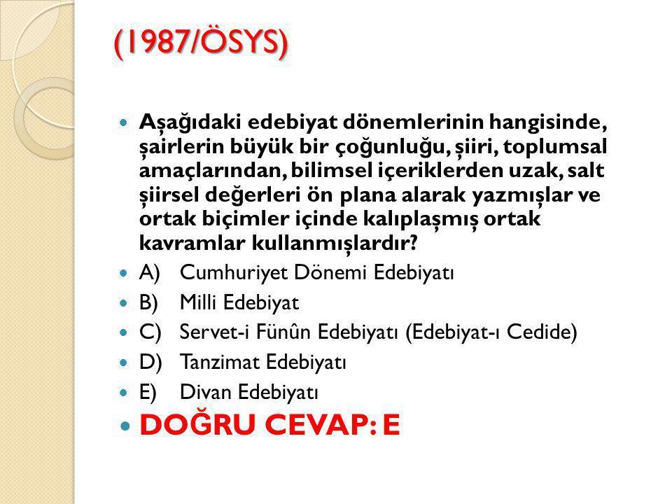 (1987/ÖSYS)