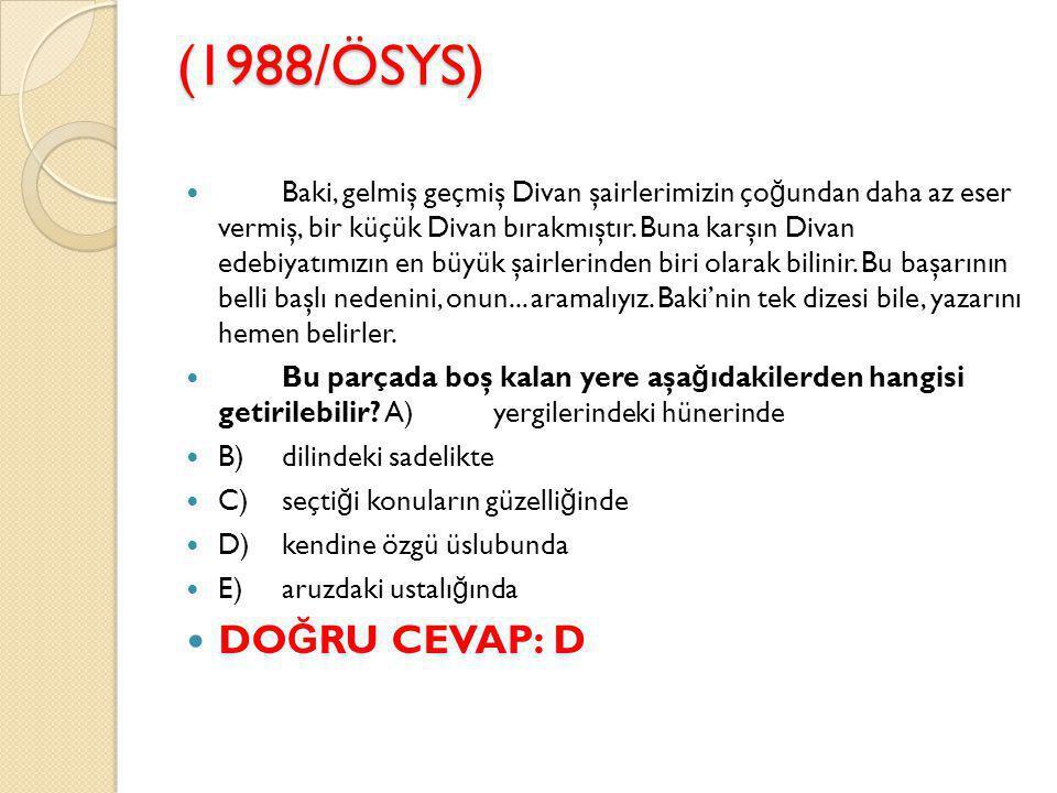 (1988/ÖSYS)