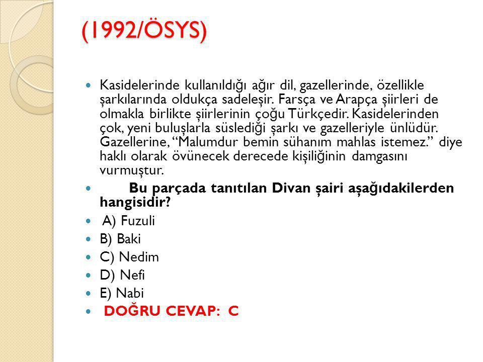 (1992/ÖSYS)