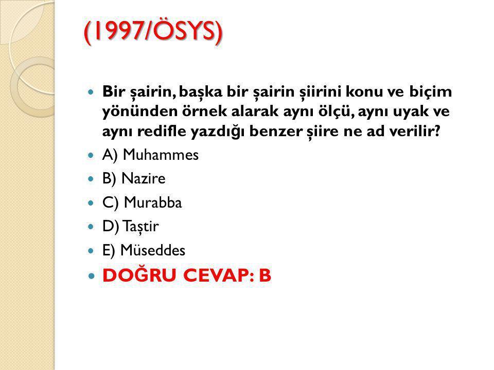 (1997/ÖSYS)