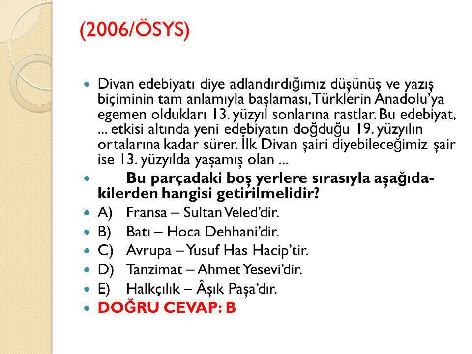 (2006/ÖSYS)
