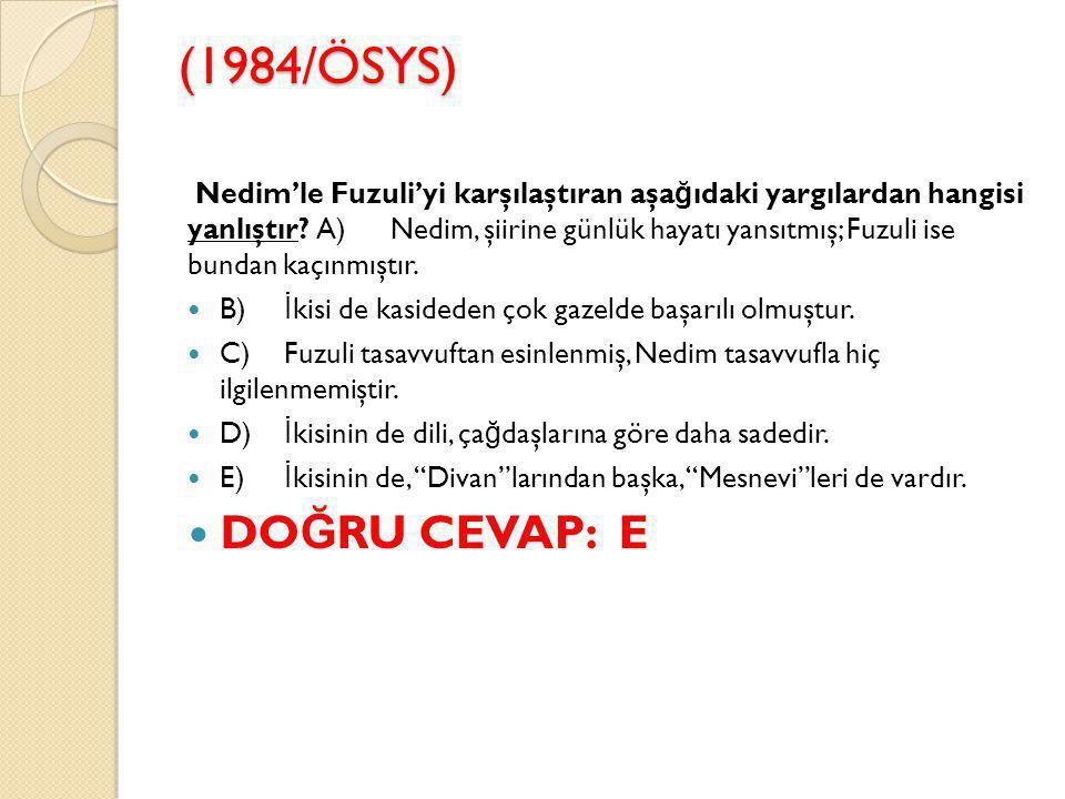 (1984/ÖSYS)