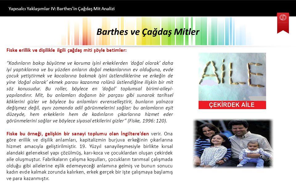 Barthes ve Çağdaş Mitler