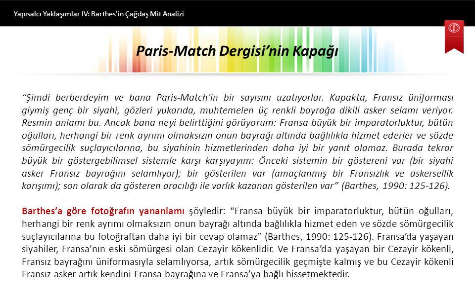 Paris-Match Dergisi'nin Kapağı