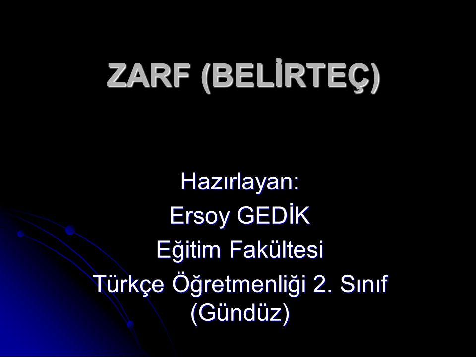 Türkçe Öğretmenliği 2. Sınıf (Gündüz)