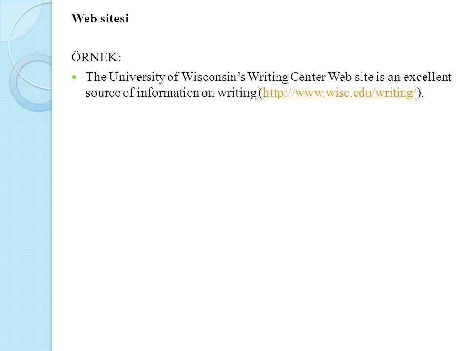Web sitesi ÖRNEK: