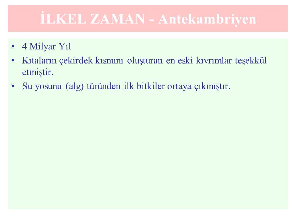 İLKEL ZAMAN - Antekambriyen