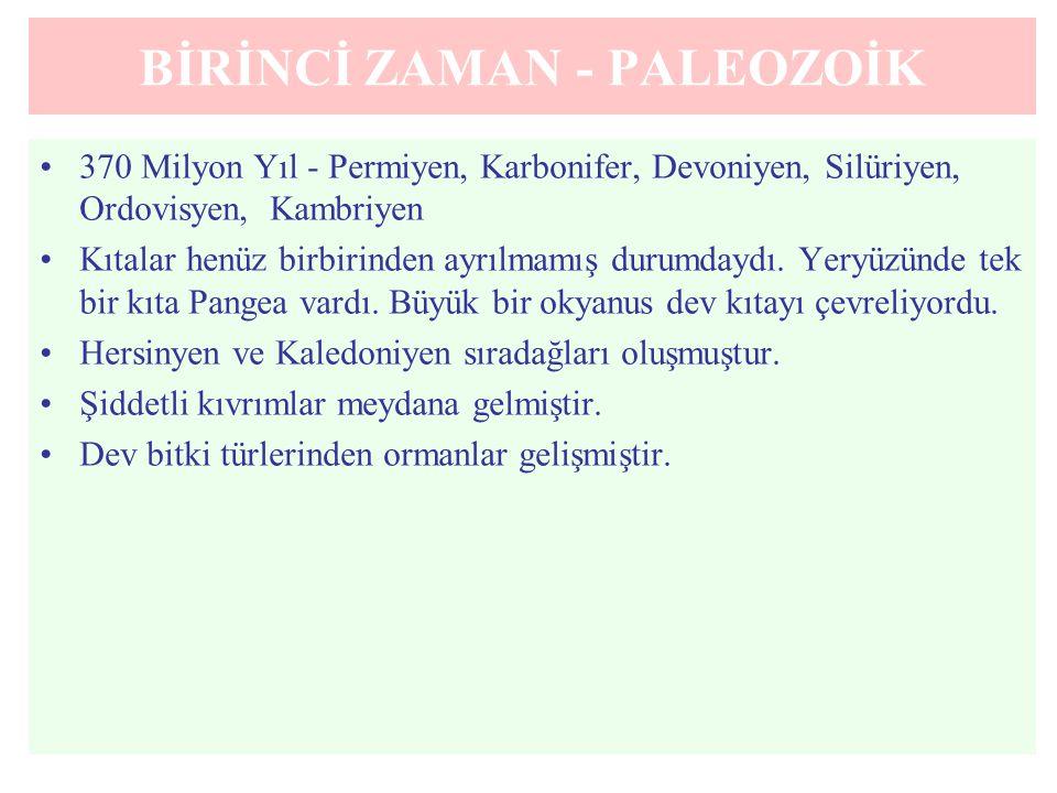 BİRİNCİ ZAMAN - PALEOZOİK