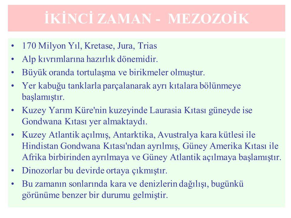 İKİNCİ ZAMAN - MEZOZOİK