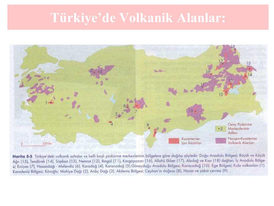 Türkiye'de Volkanik Alanlar: