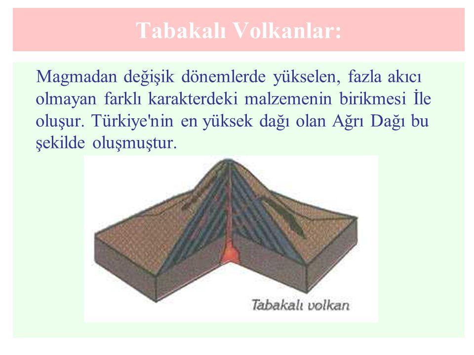 Tabakalı Volkanlar:
