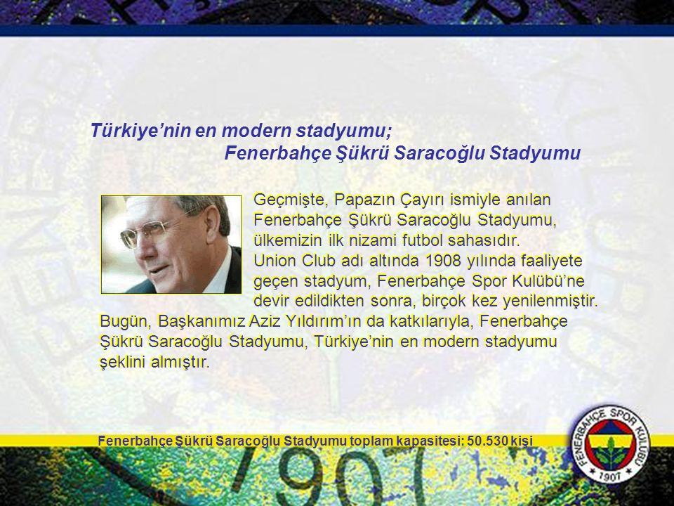 Türkiye'nin en modern stadyumu; Fenerbahçe Şükrü Saracoğlu Stadyumu
