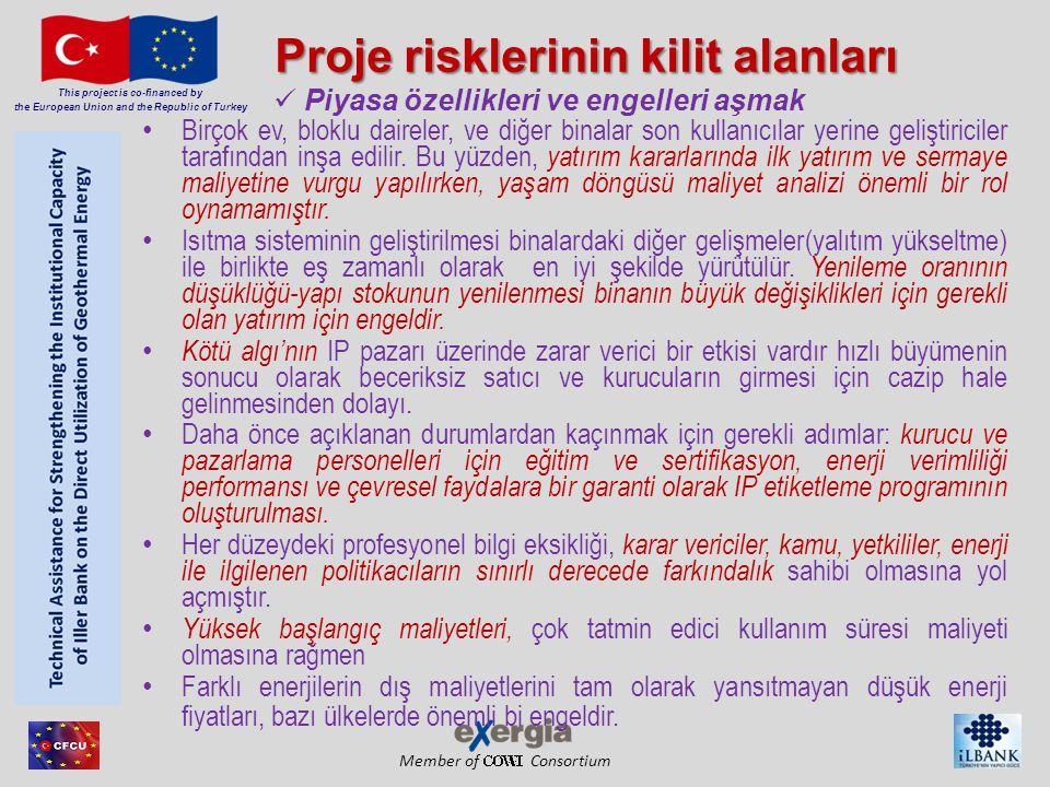 Proje risklerinin kilit alanları