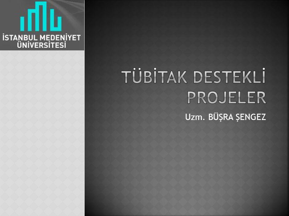 Tübİtak desteklİ projeler