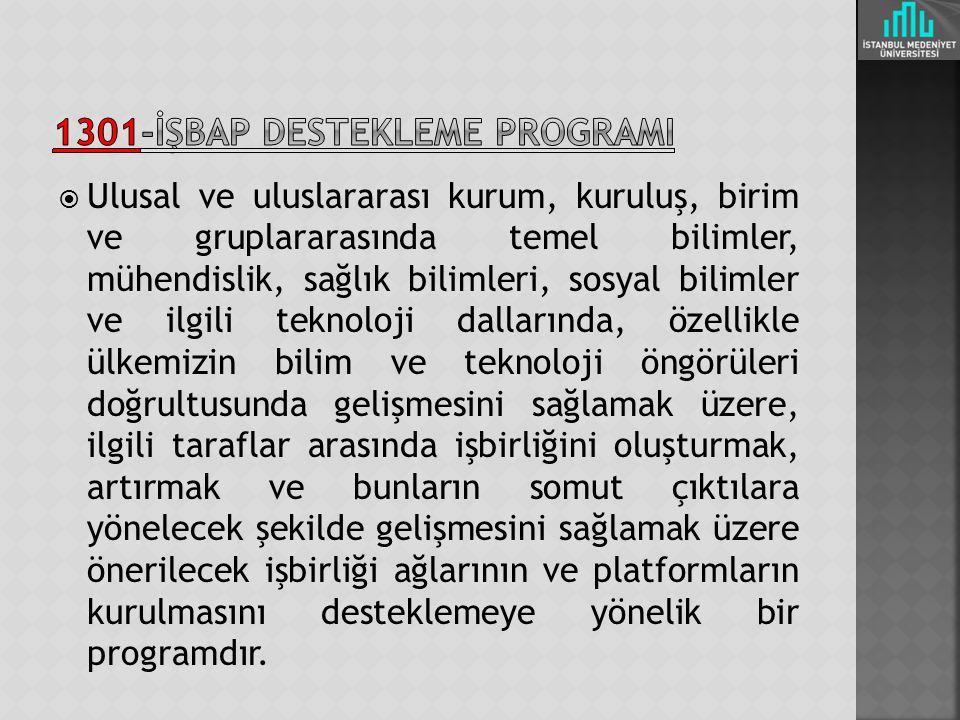 1301-İŞBAP DESTEKLEME pROGRAMI