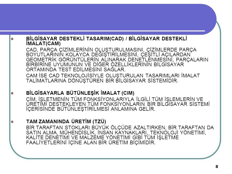 BİLGİSAYAR DESTEKLİ TASARIM(CAD) / BİLGİSAYAR DESTEKLİ İMALAT(CAM)