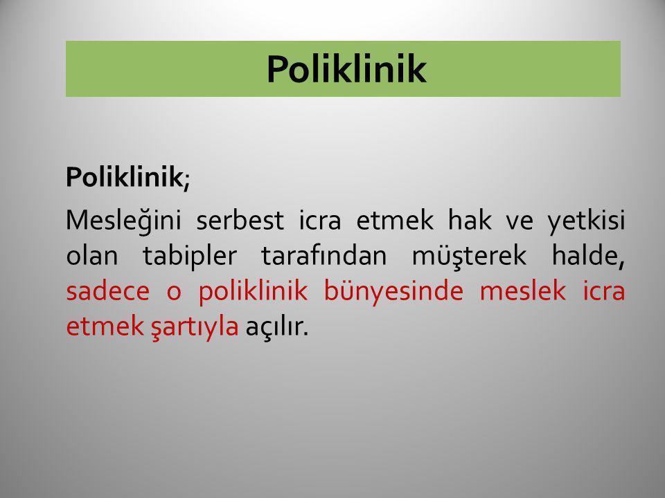 Poliklinik Poliklinik;