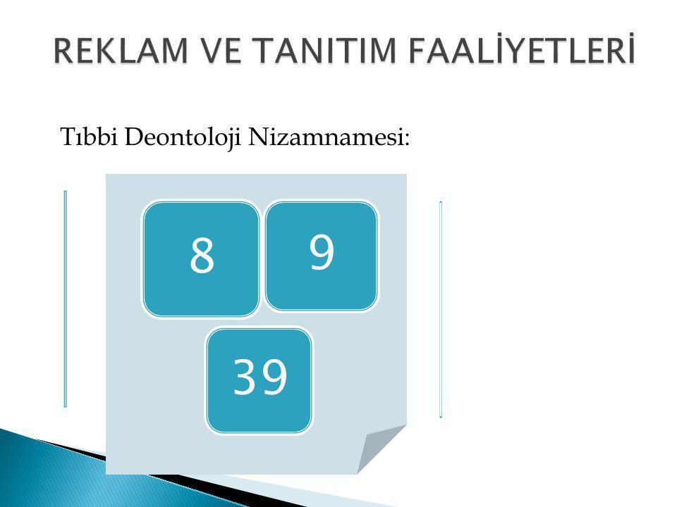 REKLAM VE TANITIM FAALİYETLERİ