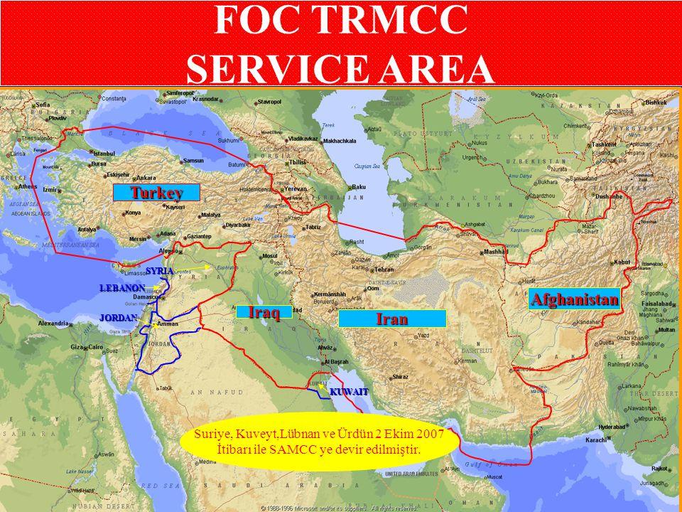 FOC TRMCC SERVICE AREA Turkey Afghanistan Iraq Iran