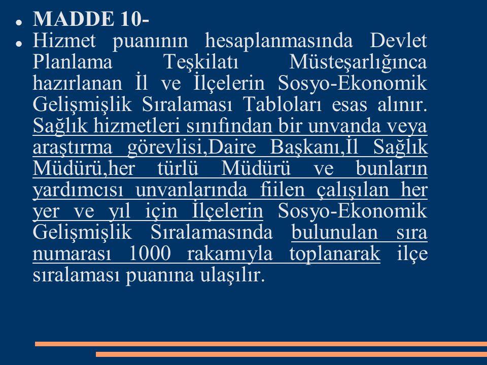 MADDE 10-