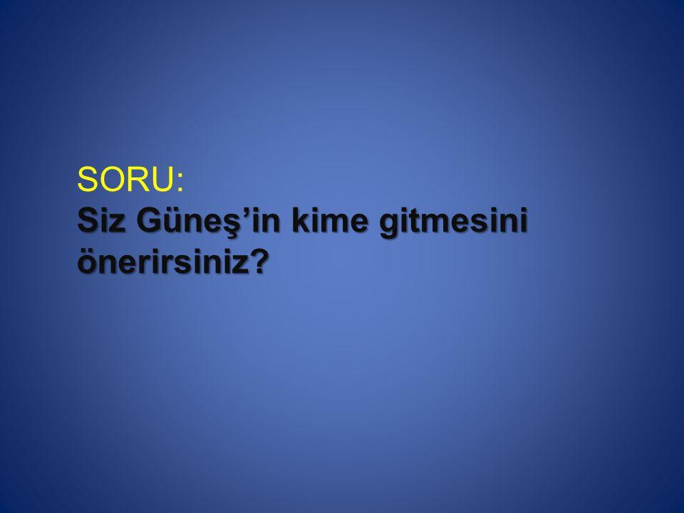 SORU: Siz Güneş'in kime gitmesini önerirsiniz