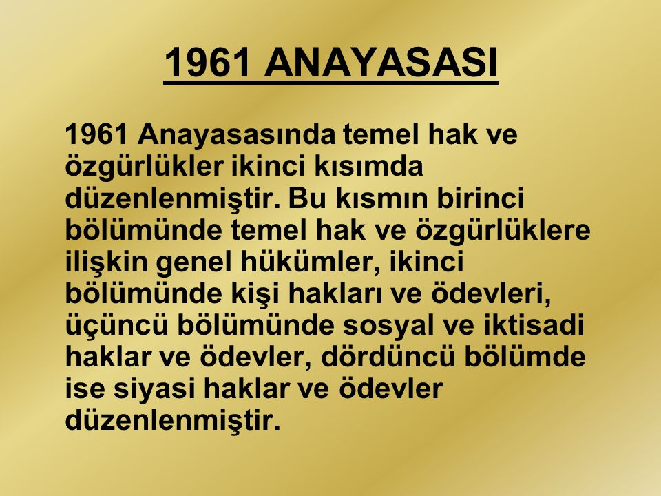 1961 ANAYASASI