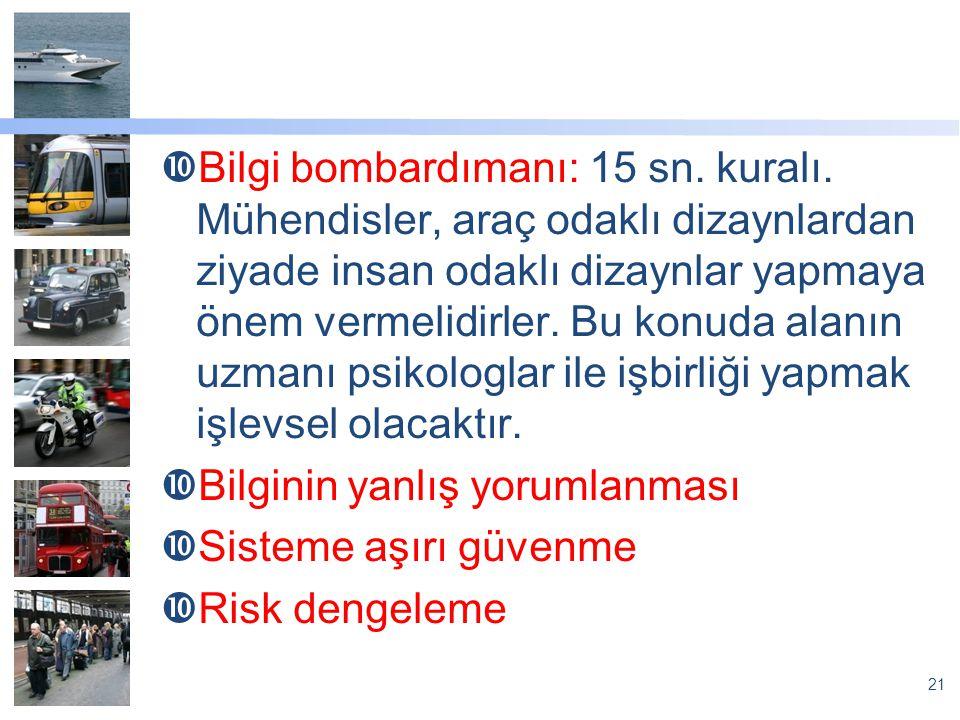 Bilgi bombardımanı: 15 sn. kuralı