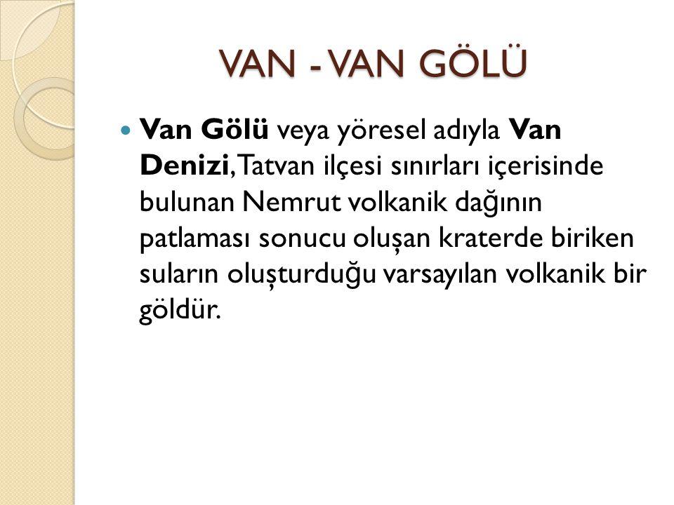 VAN - VAN GÖLÜ