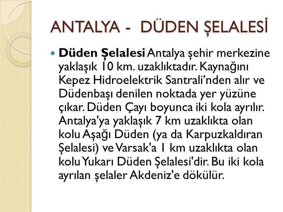 ANTALYA - DÜDEN ŞELALESİ