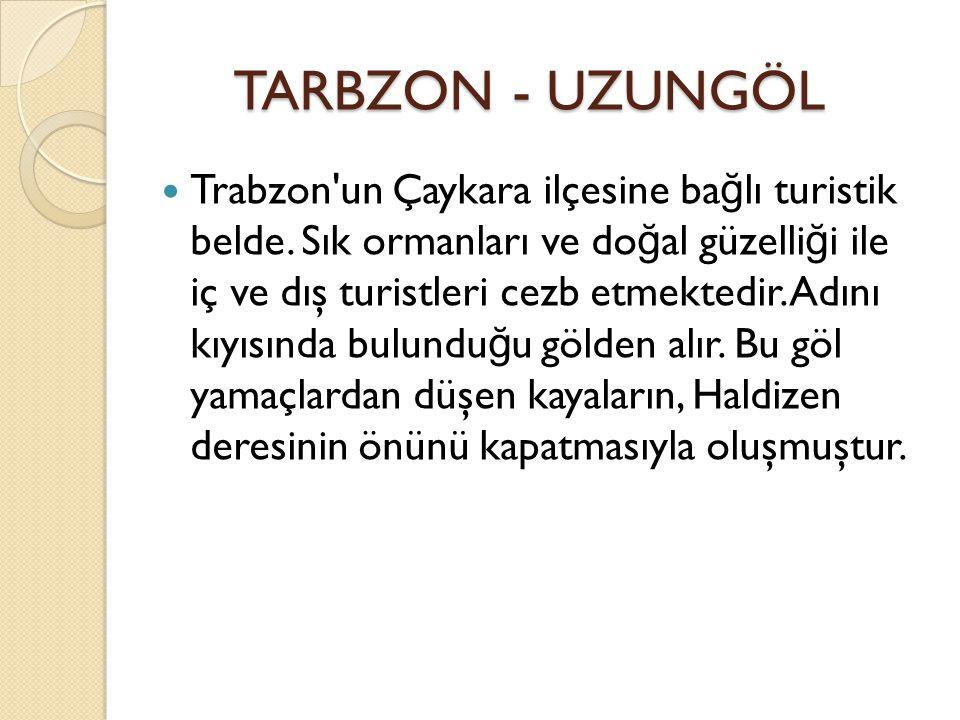TARBZON - UZUNGÖL