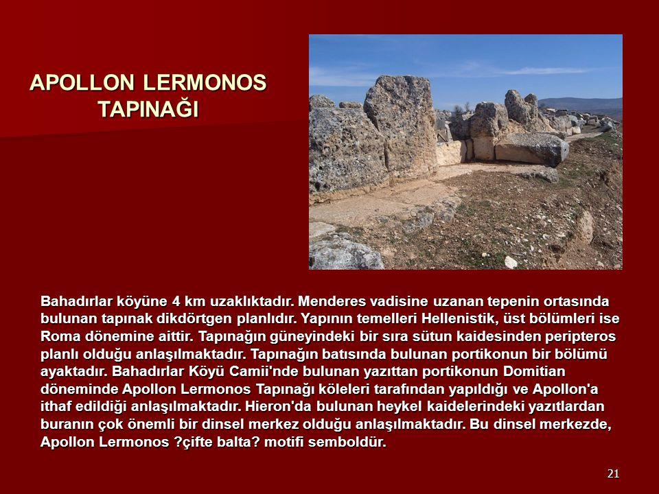 APOLLON LERMONOS TAPINAĞI