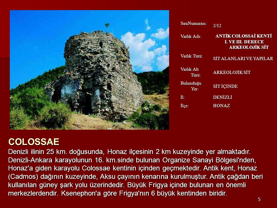 I. VE III. DERECE ARKEOLOJİK SİT