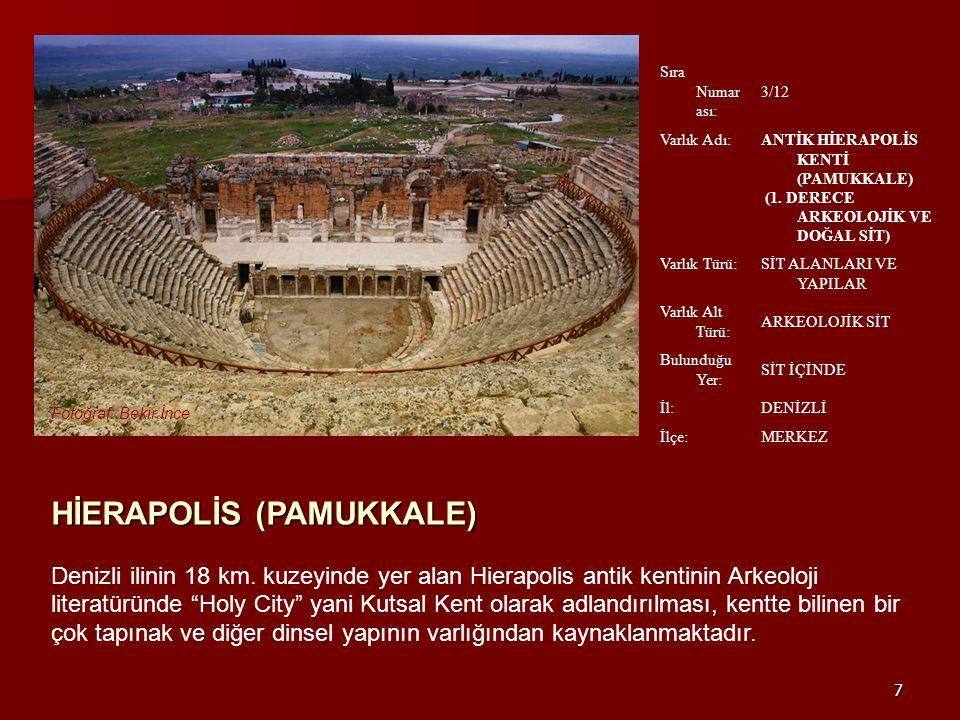 HİERAPOLİS (PAMUKKALE)