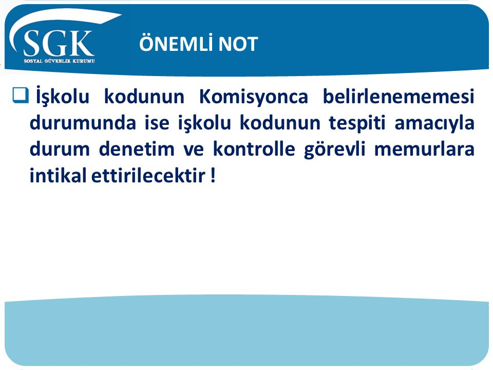 ÖNEMLİ NOT