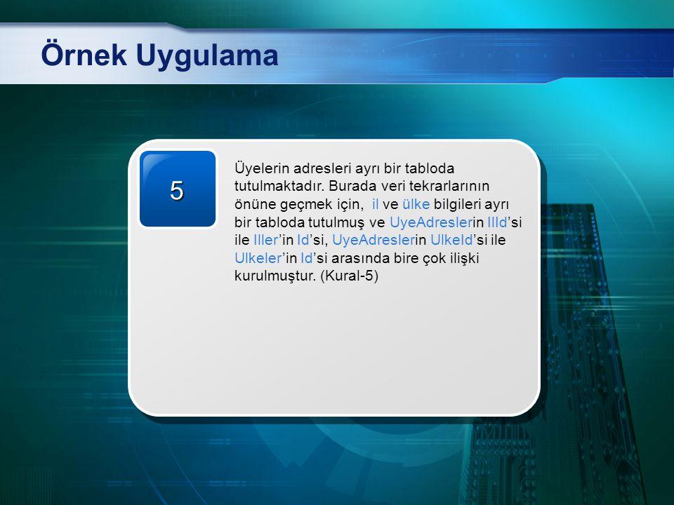 Örnek Uygulama 5.