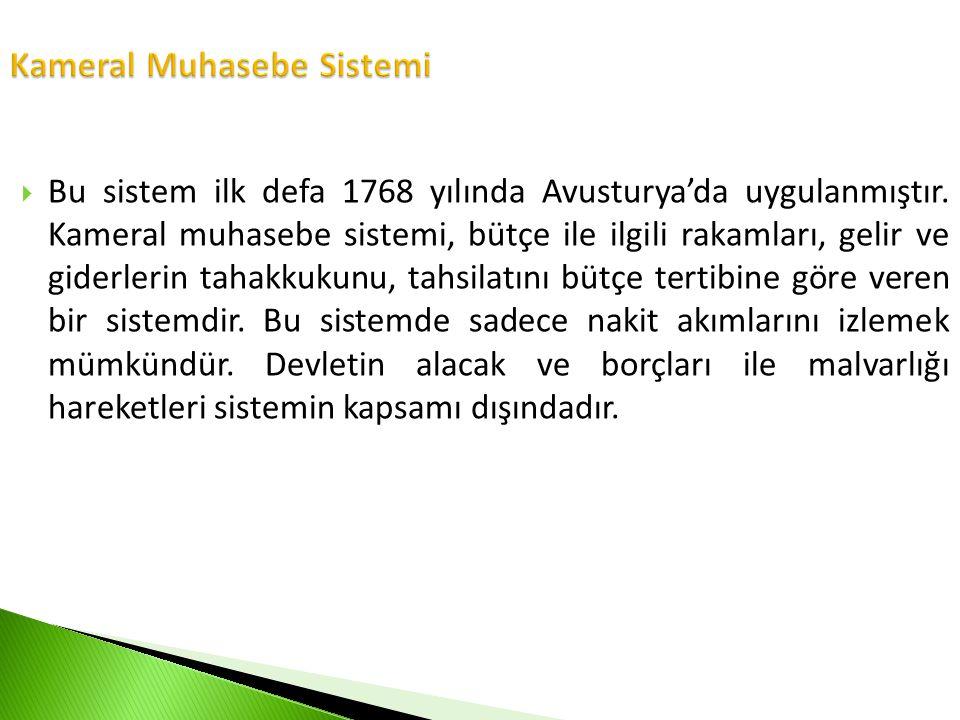 Kameral Muhasebe Sistemi