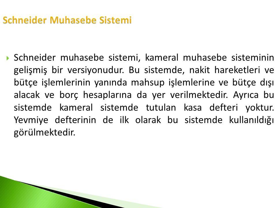 Schneider Muhasebe Sistemi