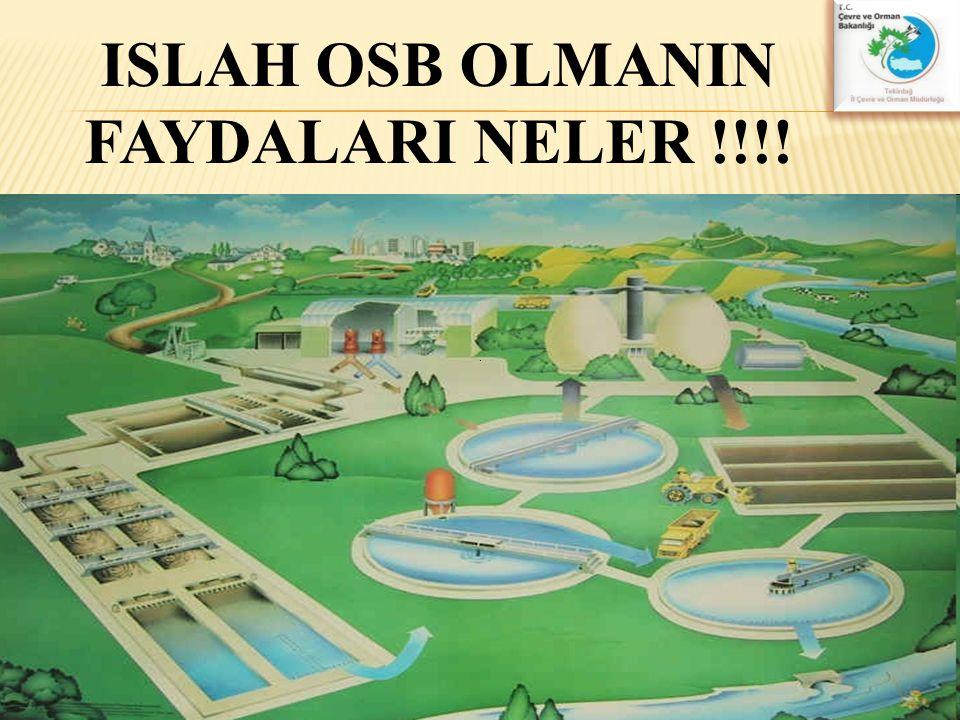 ISLAH OSB OLMANIN FAYDALARI NELER !!!!