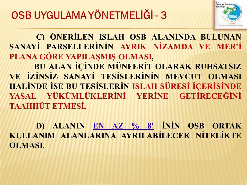 OSB UYGULAMA YÖNETMELİĞİ - 3