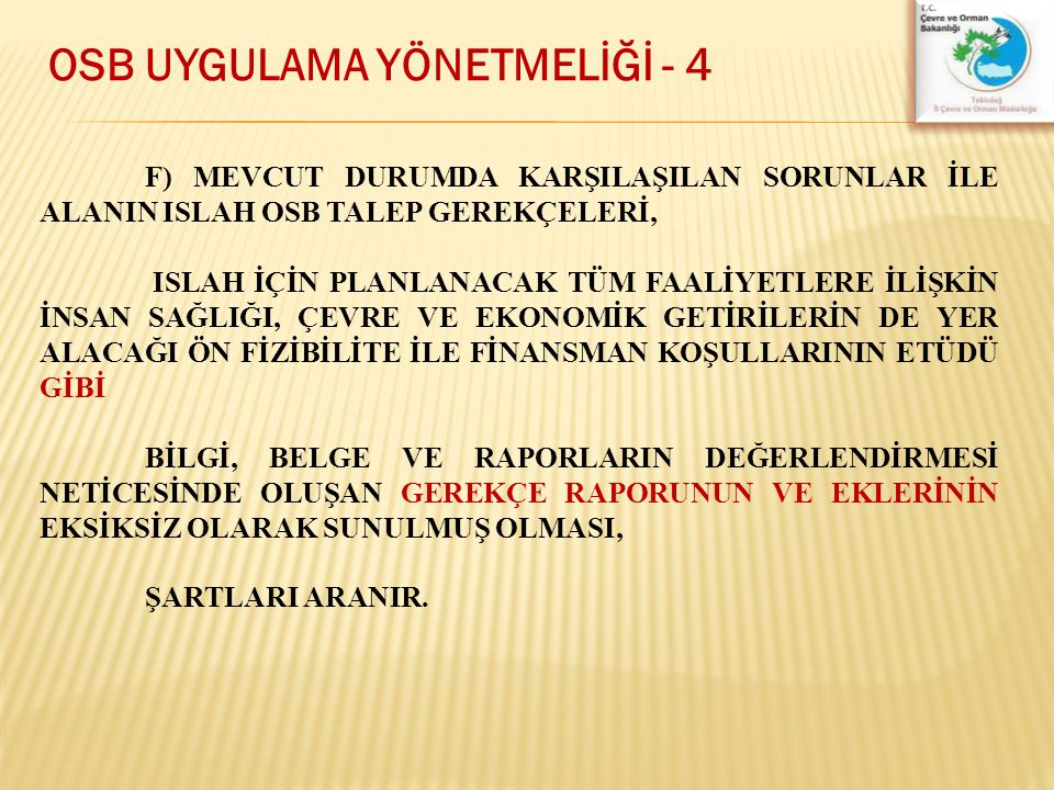 OSB UYGULAMA YÖNETMELİĞİ - 4