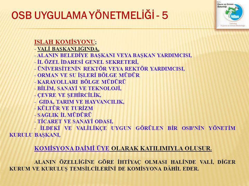OSB UYGULAMA YÖNETMELİĞİ - 5