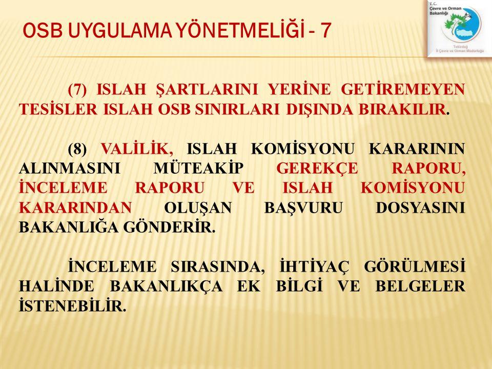OSB UYGULAMA YÖNETMELİĞİ - 7