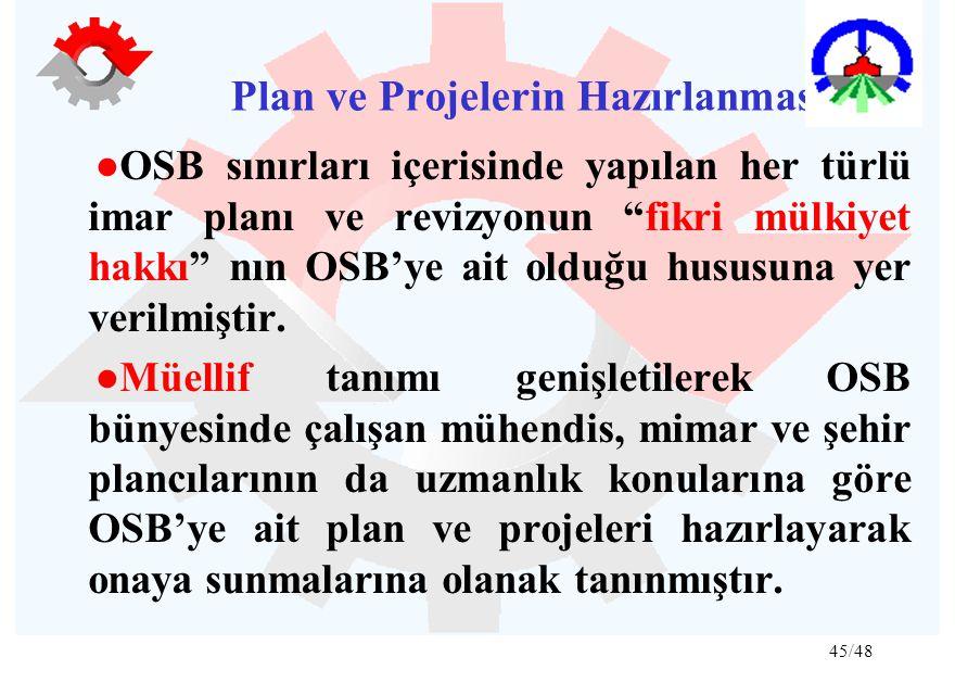 Plan ve Projelerin Hazırlanması: